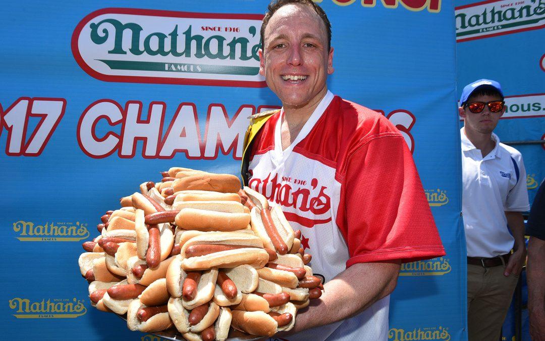 A hot dog evés világrekordja
